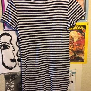 60s-inspired black and white Forever 21 Mini Dress